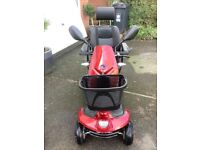 RED KYMCO KOMFY 8 MOBILITY SCOOTER 8 MPH RANGE 20 MILES EXCELLENT CONDITION