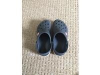 Blue crocs size 10-11
