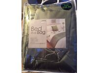 GREEN AND CREAM DUNELM BED SET