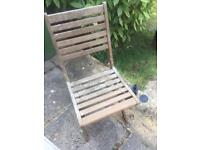 Solid wood garden table and 4 chairs