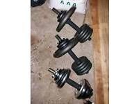 Great Bench, Pull- Up bar, Dumbbells and Weights