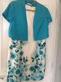 Ladies turquoise jacket and dress