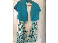 Ladies turquoise jacket and dress