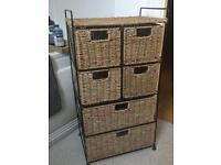 Chest of 6 seagrass drawers
