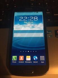 samsung s3 blue can unlocked open o2 02 tesco any giff gaff
