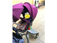 Stokke xplory pushchair/pram +cup holder+shopping bag+ parasol+ Mosquito cover