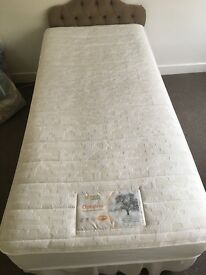 Single divan bed with mattress