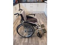 M-Brand D-LITE X FOLDING SELF PROPELLED WHEELCHAIR WITH ATTENDANT HANDBRAKES