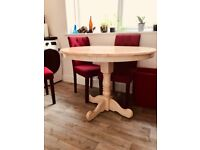 Round wooden dining table for sale