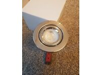 JCC FIRE RATED WARM or COOL LED 4W TWIST AND LOCK TILT CHROME DOWNLIGHT 3 YR WARRANTY £4 each