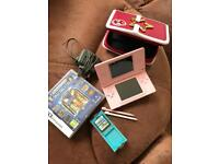 NINTENDO DS LITE- PINK! Good condition :) with games etc
