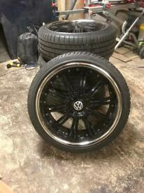 """5x120 22"""" alloys with 4 x brand new tyres"""