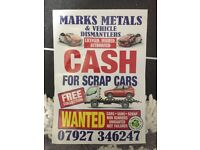 Scrap cars wanted 07927346247 top prices paid spares or repairs damaged non runners
