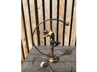 Art Deco bronze lady lamp
