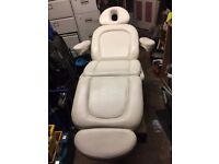 White Leather Electrical Adjustable Treatment Recliner Seat Chair Bed Medical