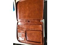 Real Leather work Folio- case