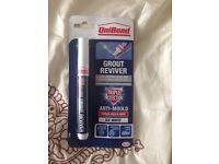 Unibond grout reviver ice white pen
