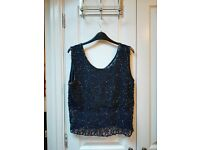 Vintage Lace Beaded Top