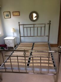 Victorian style chrome double bed frame