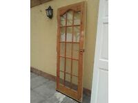 Glazed internal door, 78 X 30 inches.