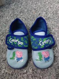George pig slippers size 7