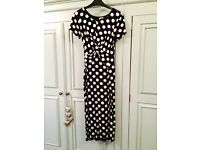 ASOS polka dot fitted maternity dress size 8