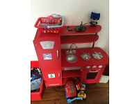 Kids retro red kitchen
