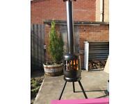 Wood burner chiminea fire pits log burner