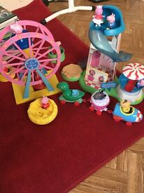 Peppar pig fairground set