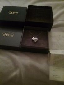 A BRAND NEW CLOGAU STERLING SILVER + ROSE GOLD FAIRY LOCKET