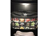 Black adidas superstar messenger bag
