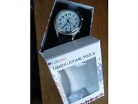 Talking Atomic Watch (Lifemax) with original packaging, worn once, excellent condition. RRP £53.99.