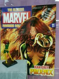 Lead marvel figure with character magazine