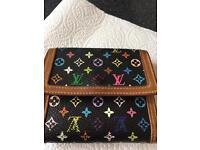Louis Vuitton multi colour purse Genuine serial number inside