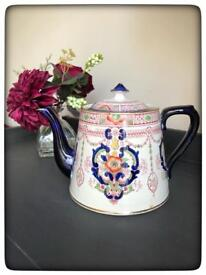 Antique Victorian Samuel Johnson Teapot, Imari, 1890s