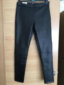 Bershka leather look trousers size 10