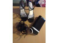 Shoes, bag, facinator, bracelet bundle