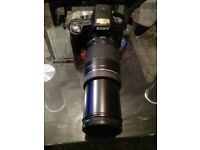sony a35 with a amazing zoom lens