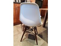 Light grey eames stlyle chairs