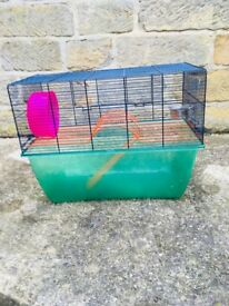 Large Gerbil/Hamster/Rodent Cage - From Pets at Home food bowl and wheel included