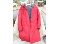 WORN TWICE SUPERB CONDITION LAND'S END LADIES SIZE MEDIUM 10/12 FLEECE LINED FULL LENGTH COAT £150 !