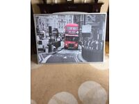 LARGE LONDON BUS PICTURE FOR SALE