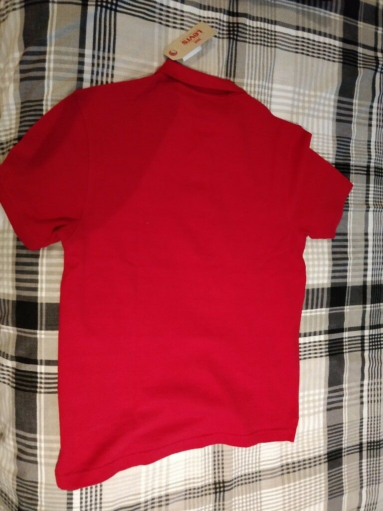 Levi's Original Small Red Polo with tags