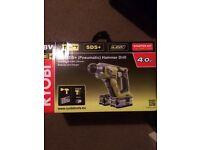 Ryobi 18v SDS+ (pneumatic) hammer drill + 2 x 4ah batteries
