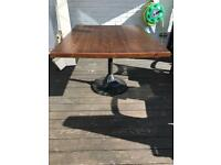 Dining Table 130x103cm with cast iron base