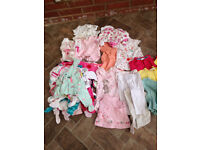 Bundle of baby girls clothing 3-6months New and excellent condition (60 items app) will post