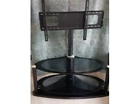 TV Stand - Black Glass with Bracket