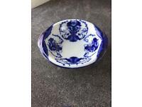 Glenwood blue and white pottery bowl