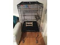 PARROT CAGE FOR SALE WITH FANCY STAND