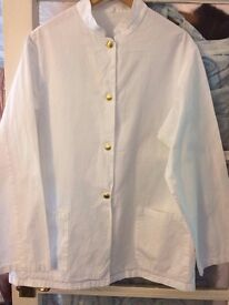 CHEFS WHITES. JACKETS. SINGLE BREASTED. GOLD BUTTONS. GOOD COND.